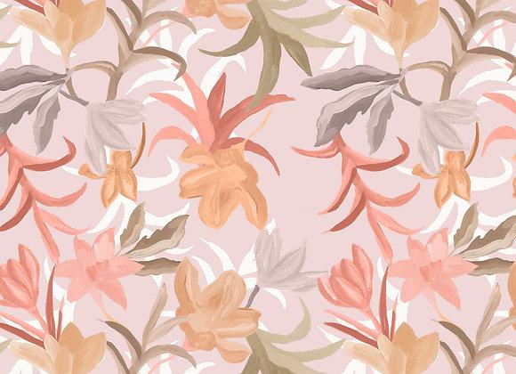 EM105 Romantic Painted Tropical Floral