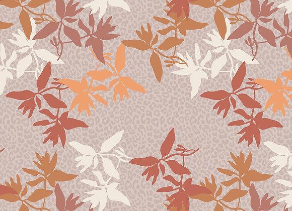 EM106 Leopard Floral Outline