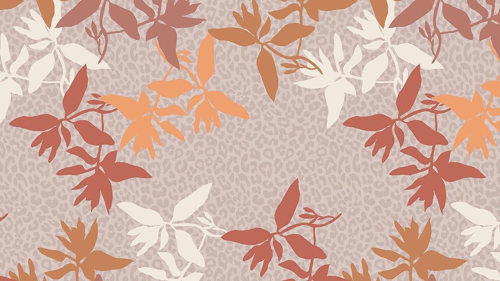 Leopard Floral Outline