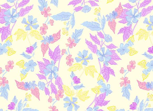 EM302 Marshmallow Floral