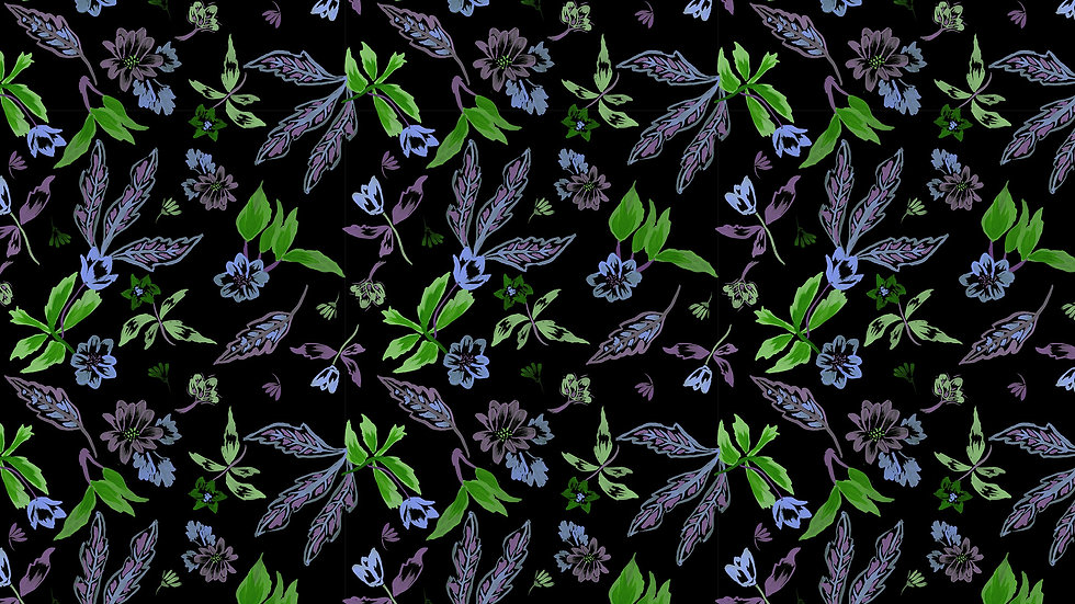 Electric Ditsy Floral
