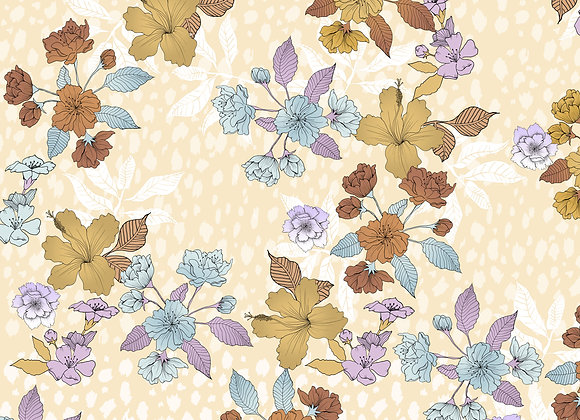 EM313 Pretty illustrated Floral