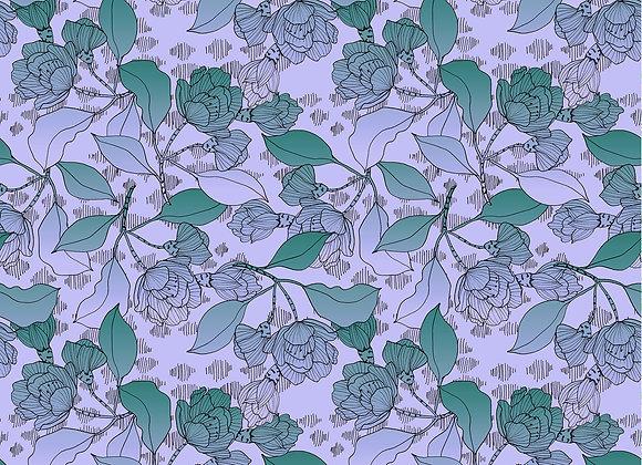 EM217 Gradient Illustrated Floral