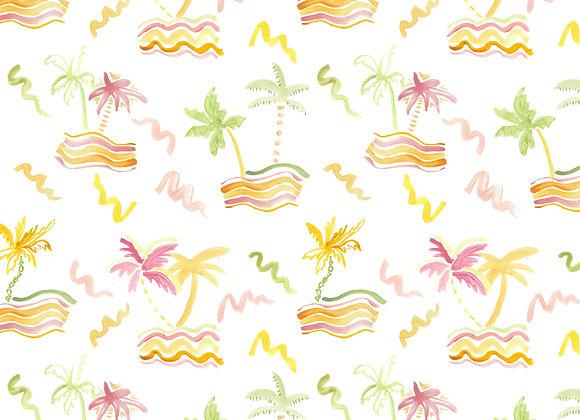 EM181 Painted Palm Trees