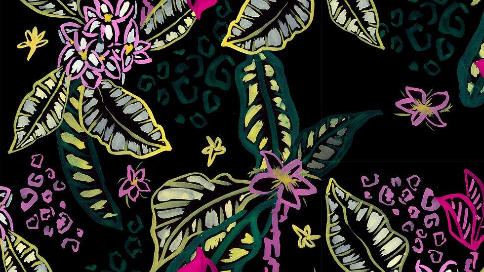 Electric Jungle - Leopard Tropical