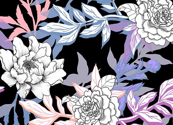 EM145 Pastel Illustrated Floral