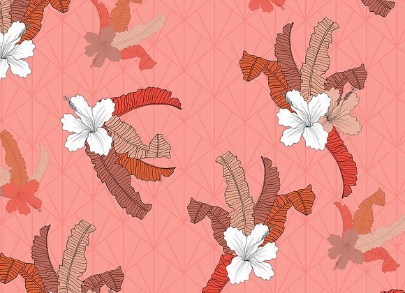 EM162 Hibiscus Floral Tropical