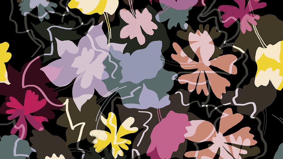 EM222_Sun-Faded-Garden 02 Abstract Floral