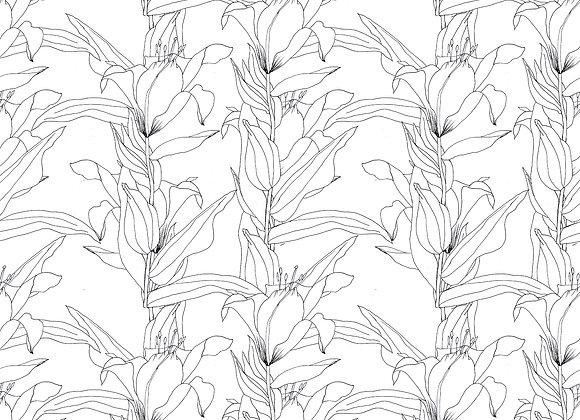 EM174 Minimal Floral Outline