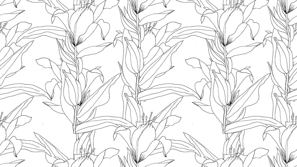 Minimal Floral Outline