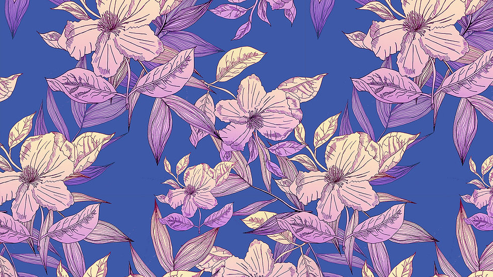 Ombre Illustrated Floral