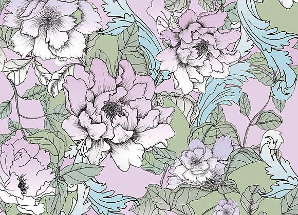 EM149 Illustrated Floral Peony