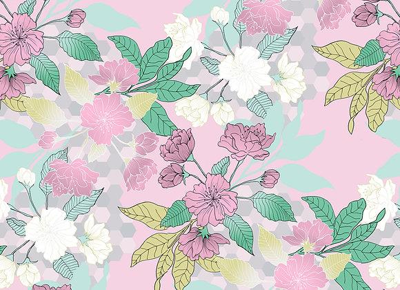 EM166 Miami Illustrated Floral & Geo