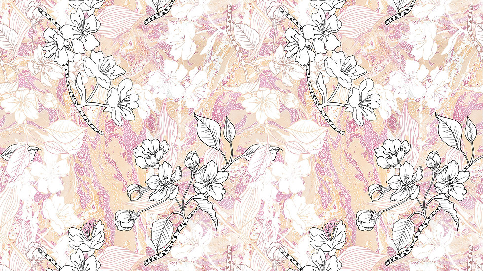 Marble Illustrated Floral