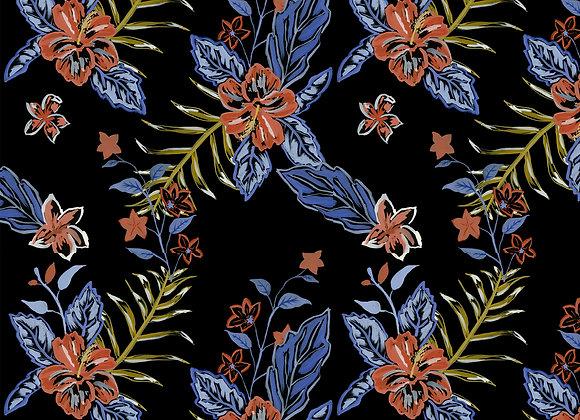EM211 Electric Jungle Hibiscus Floral
