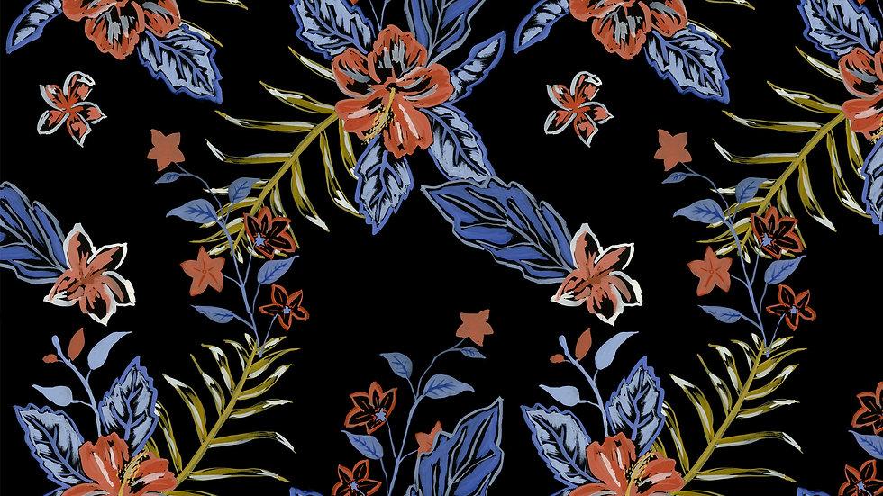 Electric Jungle - Hibiscus Floral