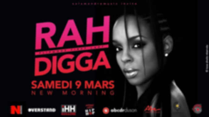 Rah Digga-Concert New morning-mars 2019.