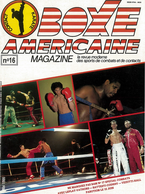 Boxe americaine #16 - Mai 1986