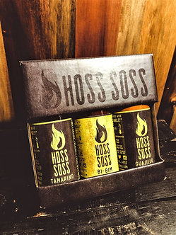 Hoss Soss 3 Bottle Gift Box