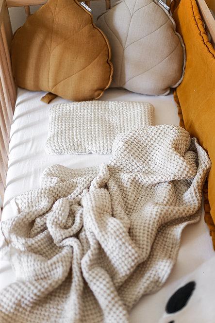 Set lněné deky s polštářkem