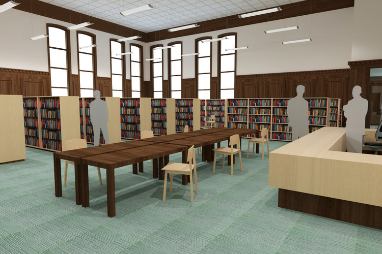 Rendering of the library
