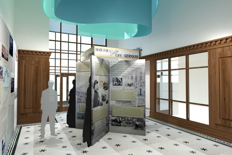 Rendering of historic display in entrance foyer