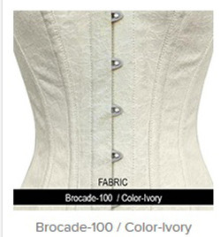 Brocade-100 Color- Ivory