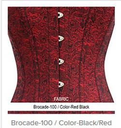 Brocade-100 Color-Red Black