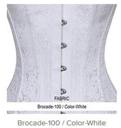 Brocade-100 Color-White