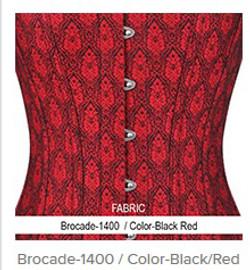 Brocade- 1400 Color- Black Red