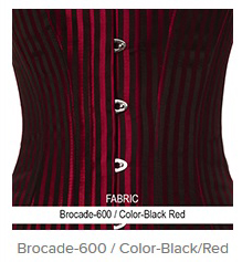 Brocade- 600 Color-Black Red