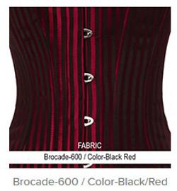 Brocade- 600 Color-Black Red