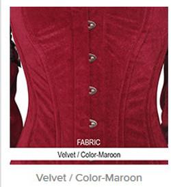 Velvet- Color-Maroon