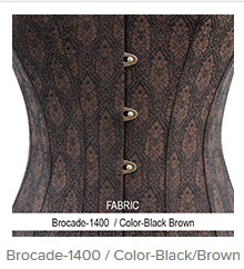 Brocade- 1400 Color- Black Brown