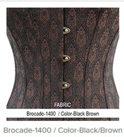 Brocade- 1400 Color- Black Brown