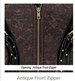 Antique Front Zipper