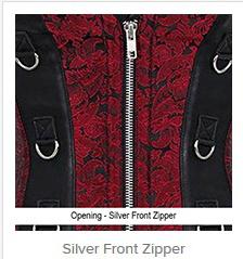 Silver Front Zipper