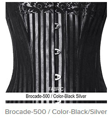 Brocade-500 Color- Black Silver