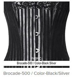 Brocade-500 Color- Black Silver