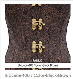 Brocade-100 Color- Black Brown