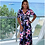 Thumbnail: V Neck 3/4 Sleeve Loose Long Maxi Dress with Belt
