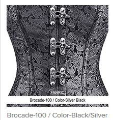 Brocade-100 Color-Black Silver