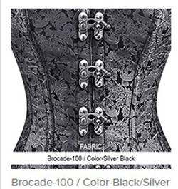 Brocade-100 Color-Black Silver