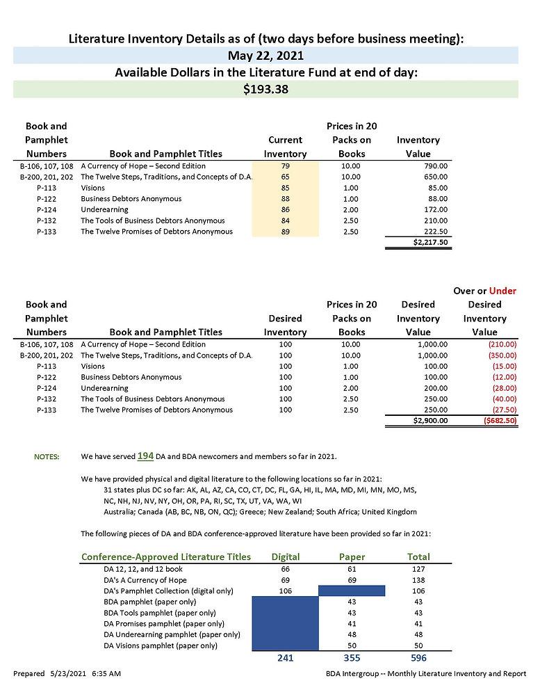 2021_05_22 - May 2021 BDA Intergroup Lit