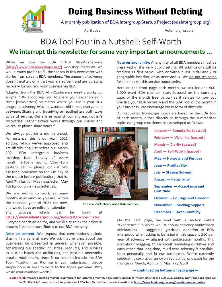 2021_03_25 - April 2021 BDA Newsletter (