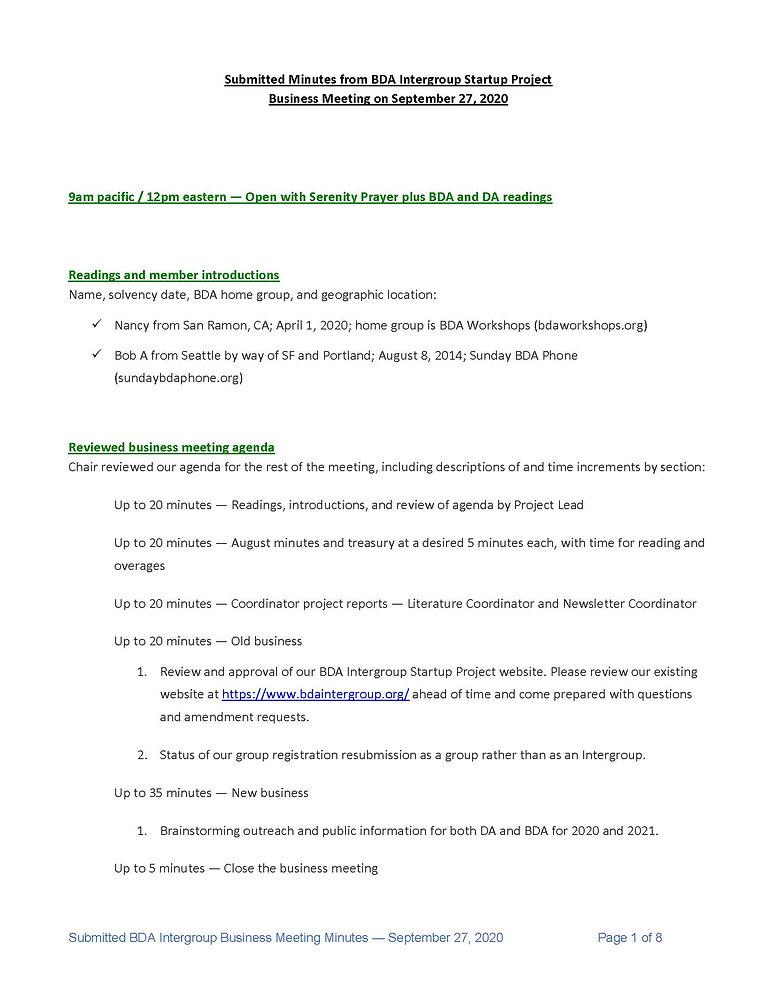 2020_09_27 - BDA Intergroup September 20