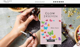 Glow 24 Seven This is a webiste for Skin Care or Beauty that was...