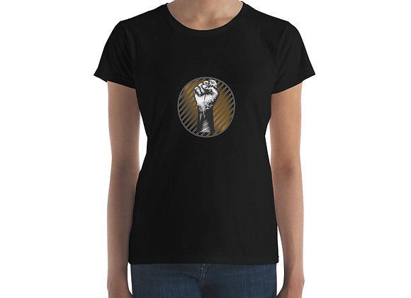 BLM Gradient Power Fist Women's short sleeve t-shirt