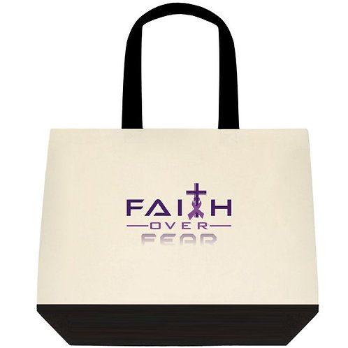 FOF Two-Tone Deluxe Classic Cotton Tote Bags