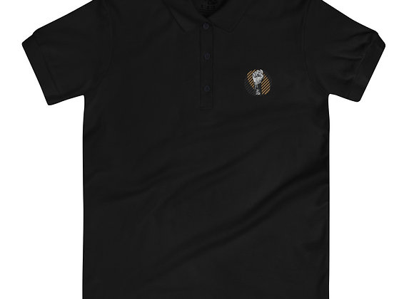 BLM Power Fist Embroidered Women's Polo Shirt